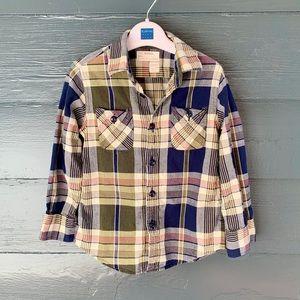 Boys J. Crew Madras Button Down Shirt (4/5)